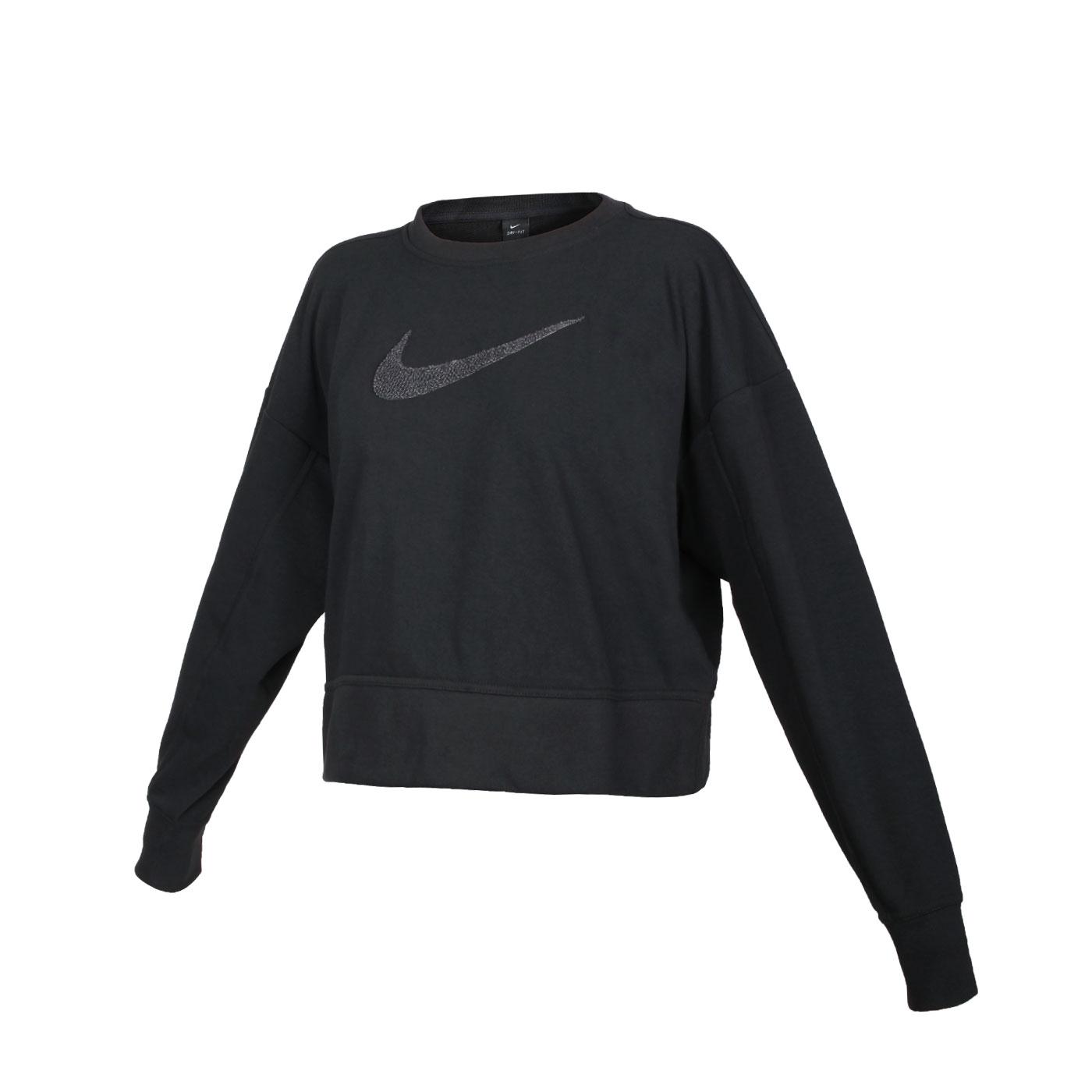 NIKE 女款休閒長袖T恤 CU5507-010 - 黑