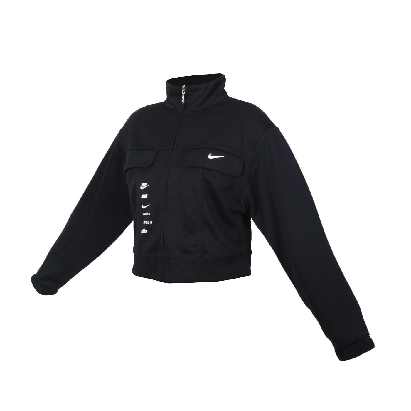 NIKE 女款短版外套 CU5679-010 - 黑白