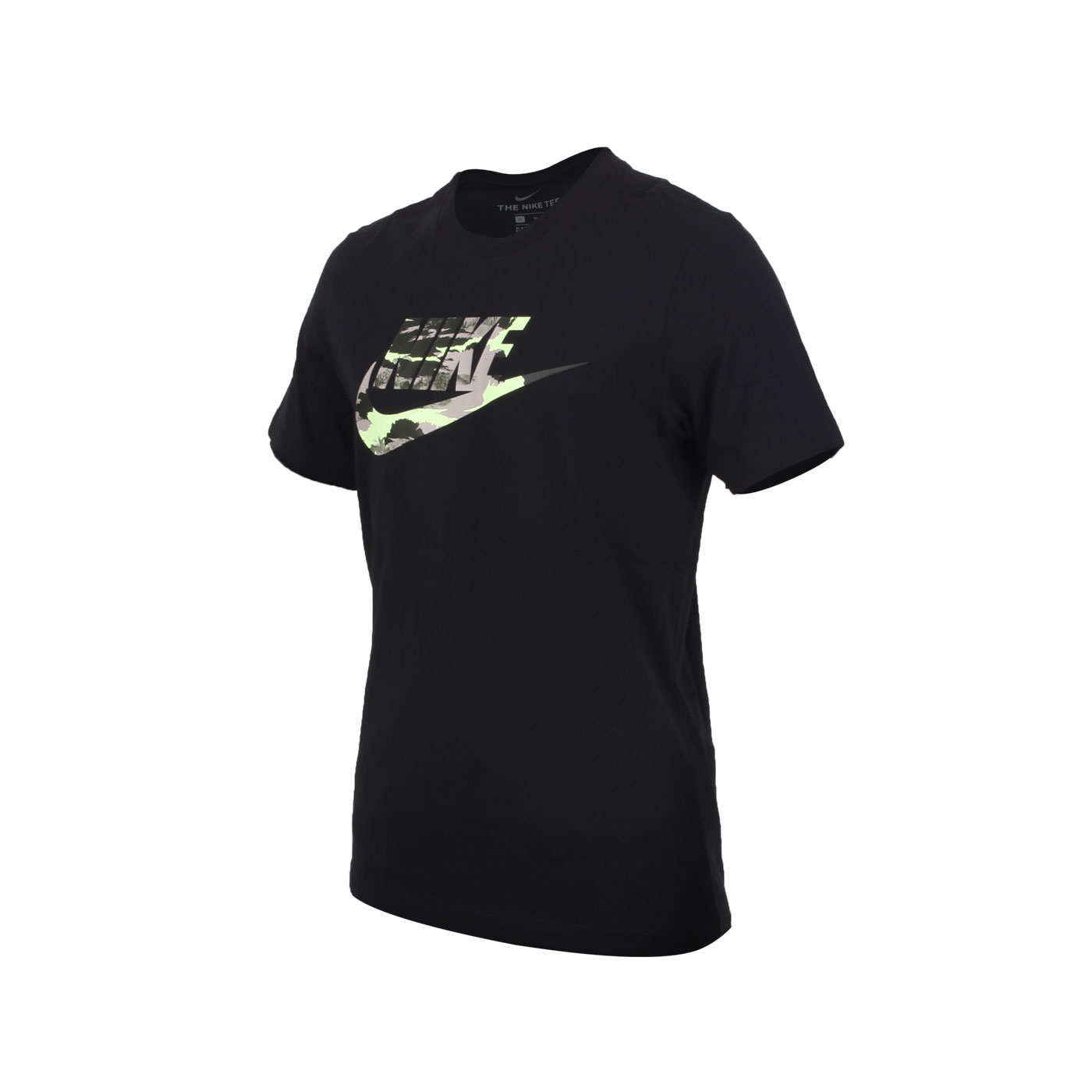 NIKE 男款短袖T恤 CU8915-010 - 黑灰綠