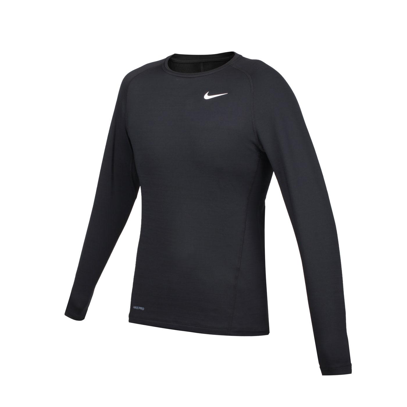 NIKE 男款緊身長袖T恤 CV3047-010 - 黑白