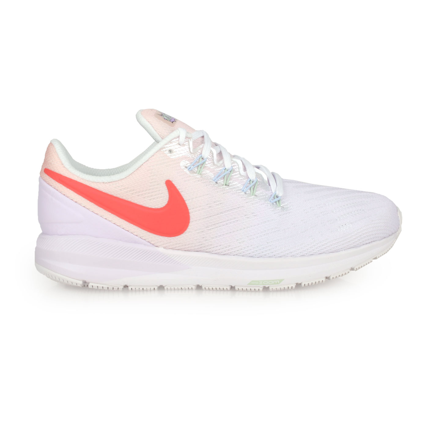 NIKE 女款慢跑鞋  @W AIR ZOOM STRUCTURE 22@CW2640681 - 淺紫白橘紅