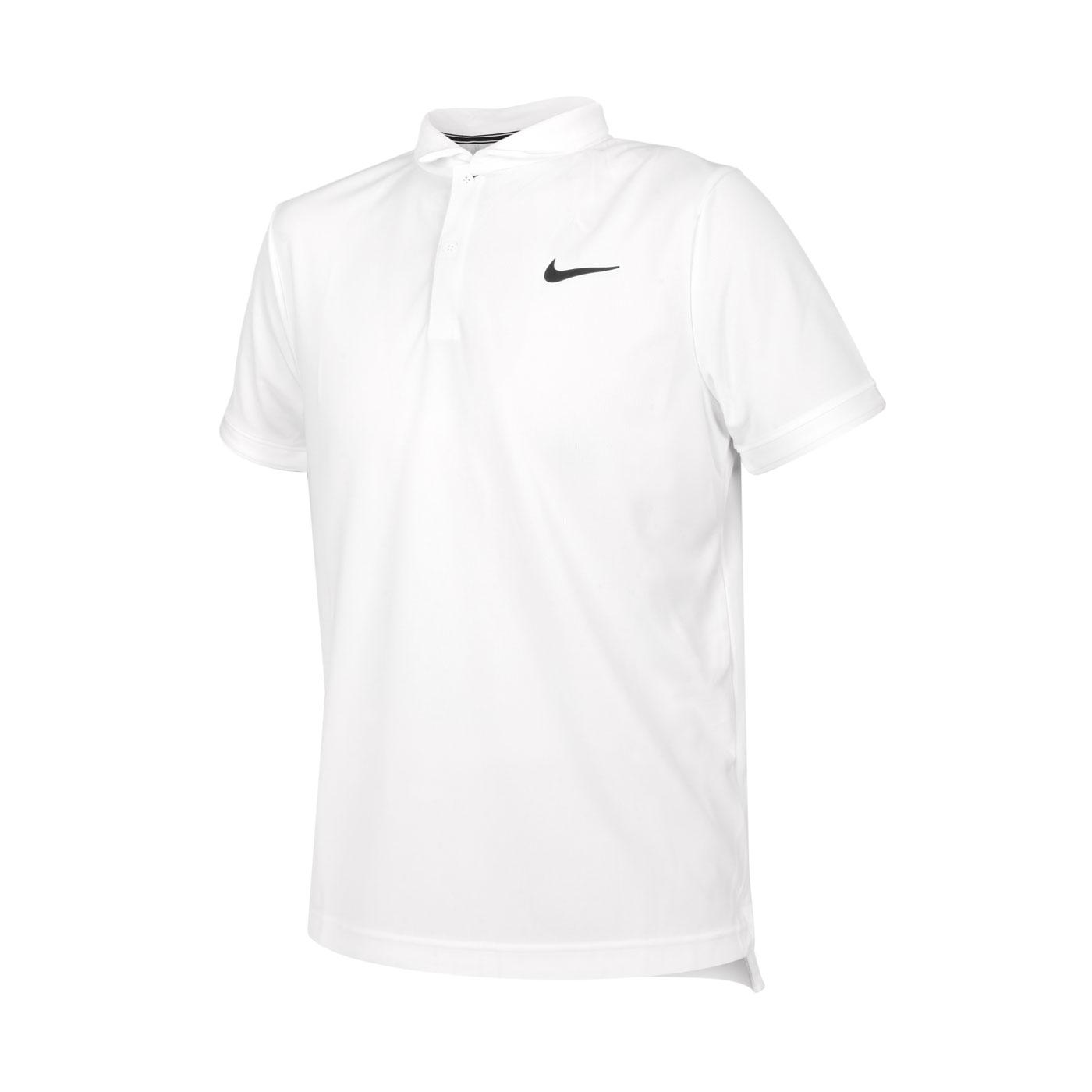 NIKE 男款短袖POLO衫 CW6851-100 - 白黑