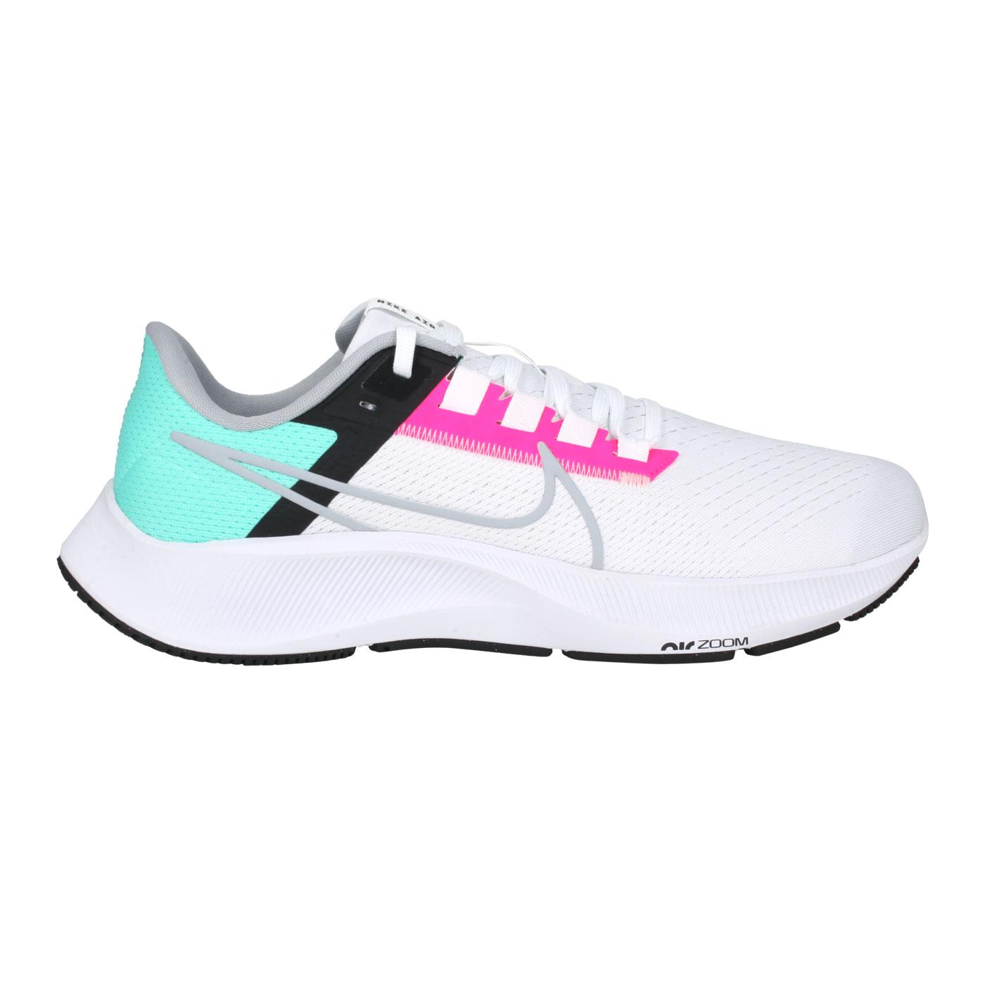 NIKE 男款慢跑鞋  @AIR ZOOM PEGASUS 38@CW7356-102 - 白桃紅綠黑