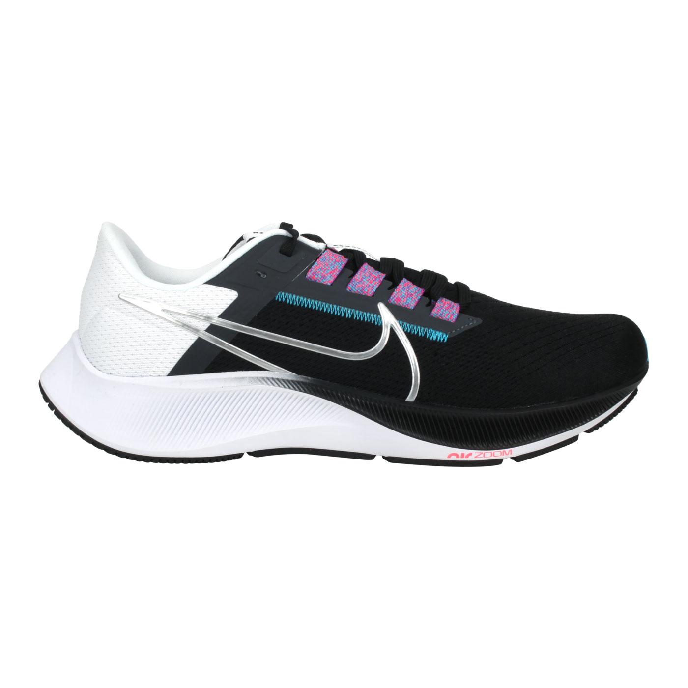 NIKE 男款運動慢跑鞋  @AIR ZOOM PEGASUS 38@CW7356003 - 黑白藍紫