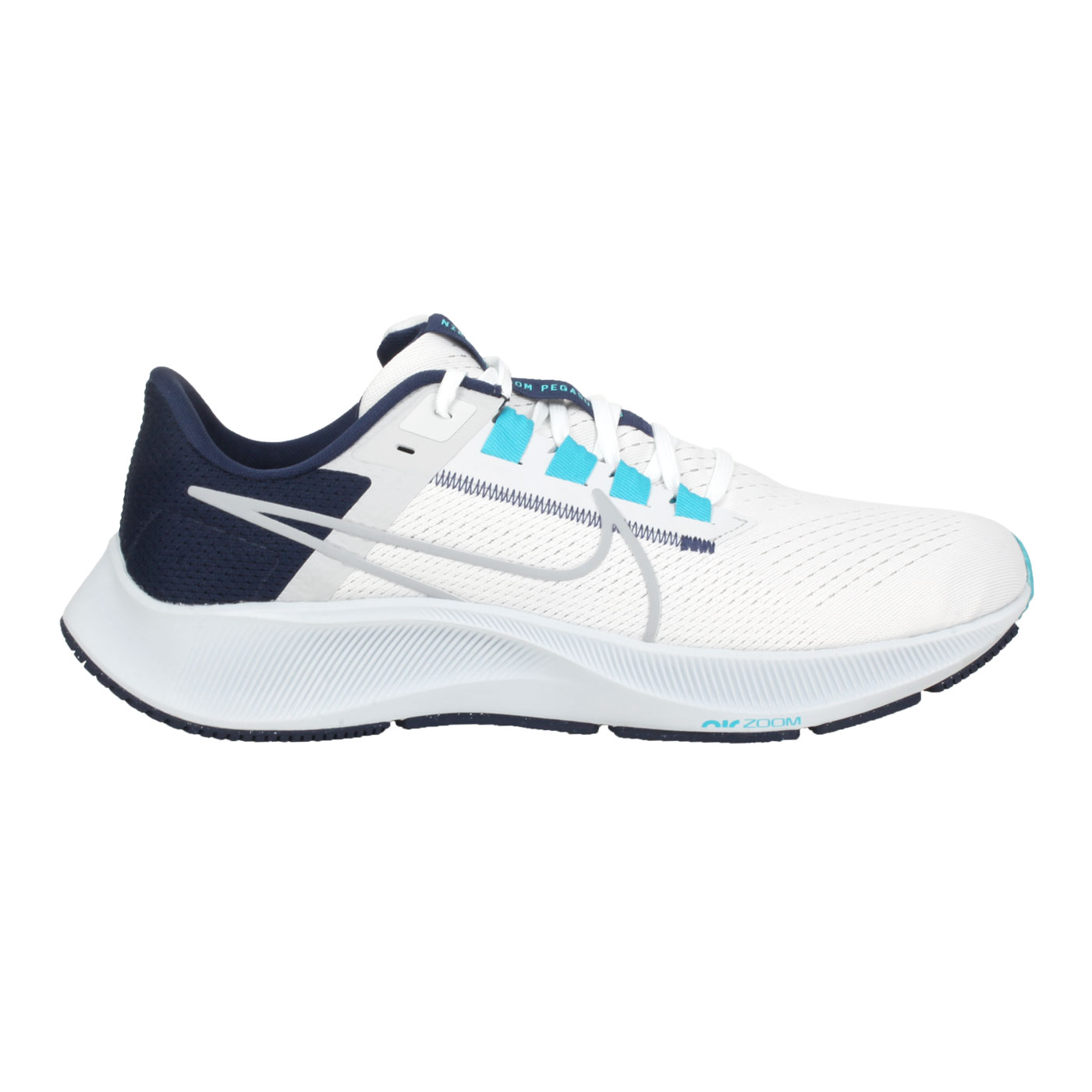 NIKE 男款運動慢跑鞋  @AIR ZOOM PEGASUS 38@CW7356101 - 白丈青藍