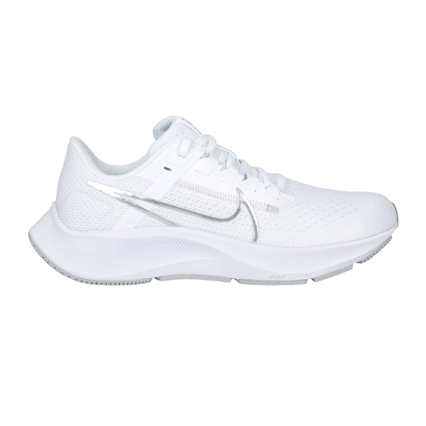 NIKE 女款慢跑鞋  @WMNS AIR ZOOM PEGASUS 38@CW7358-100 - 白銀