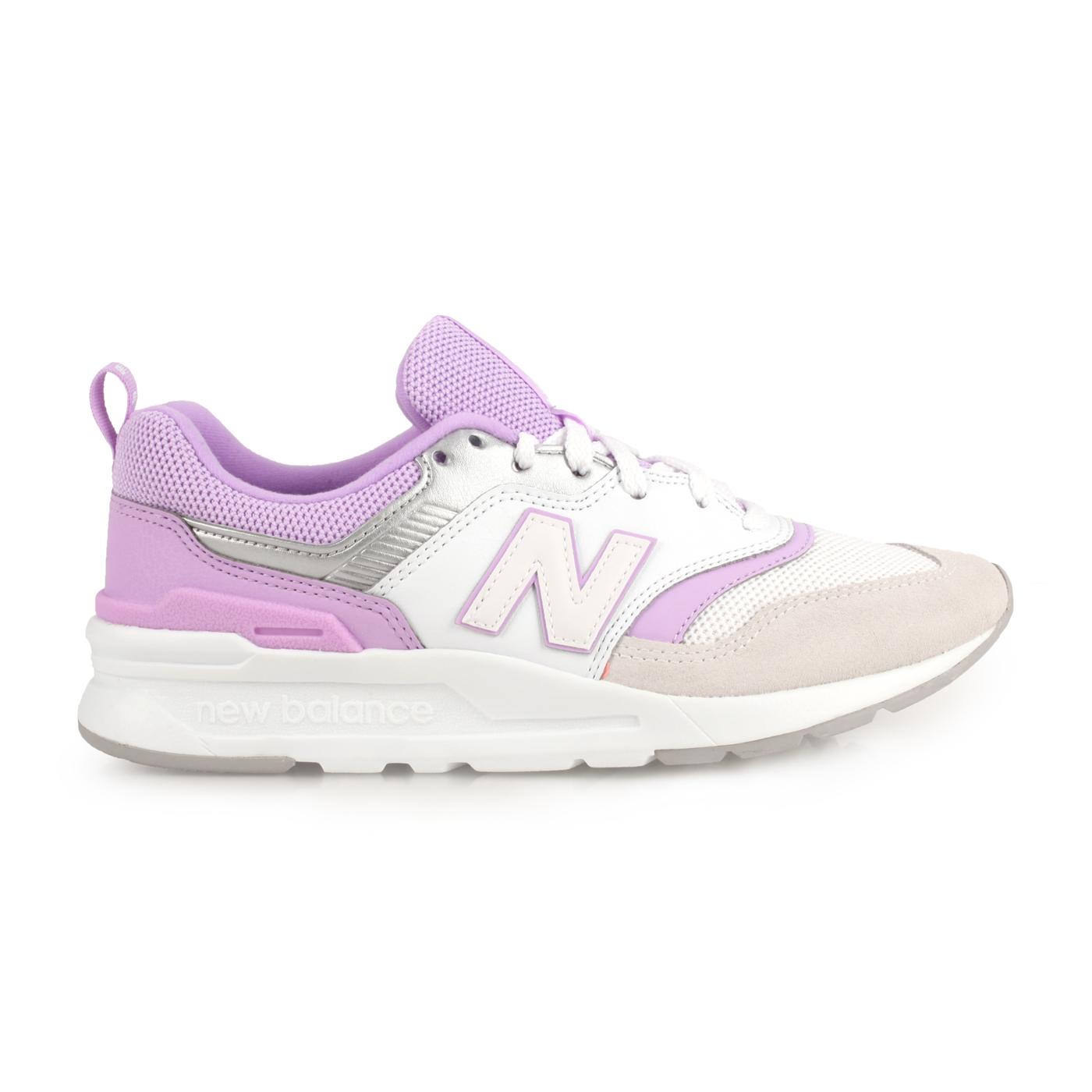 NEW BALANCE 女款經典復刻慢跑鞋  @997系列@CW997HEA - 白紫灰