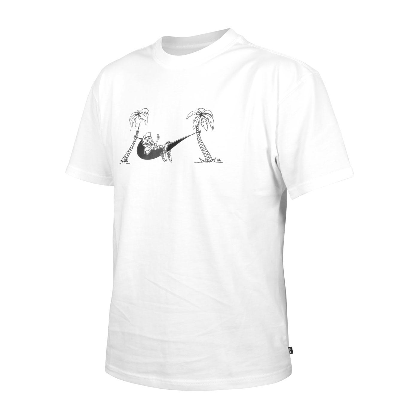 NIKE 男款短袖T恤 CZ6174-100 - 白黑