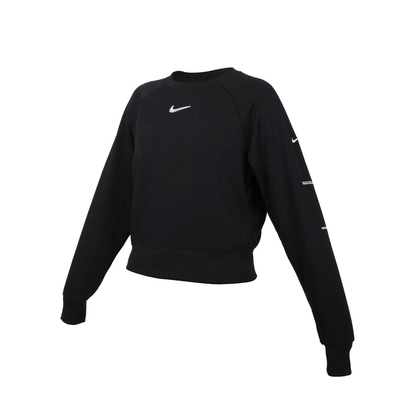 NIKE 女款圓領長袖T恤 CZ8891-010 - 黑銀