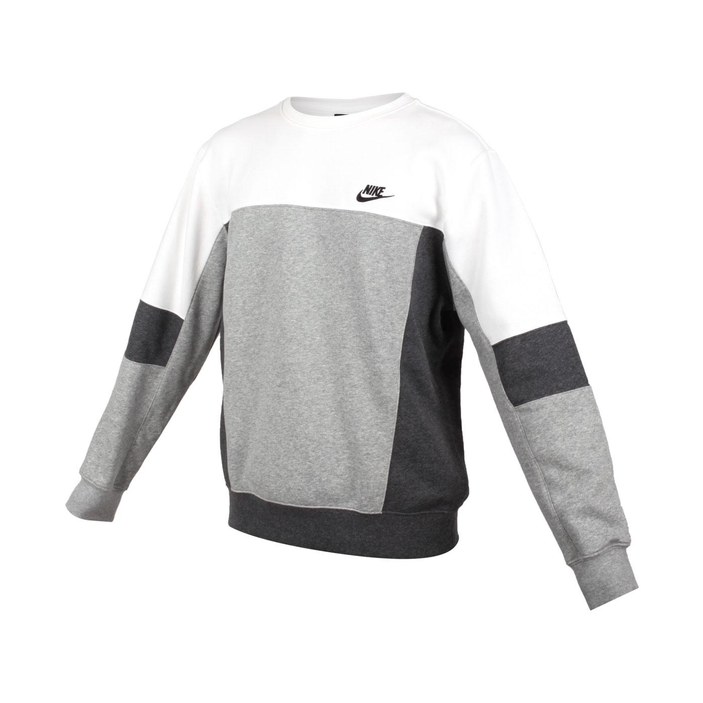 NIKE 男款長袖T恤 CZ9967-100 - 白灰黑