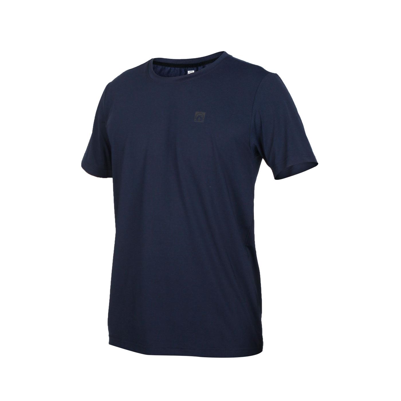 FIRESTAR 男款彈性圓領短袖T恤 D0531-93 - 丈青灰