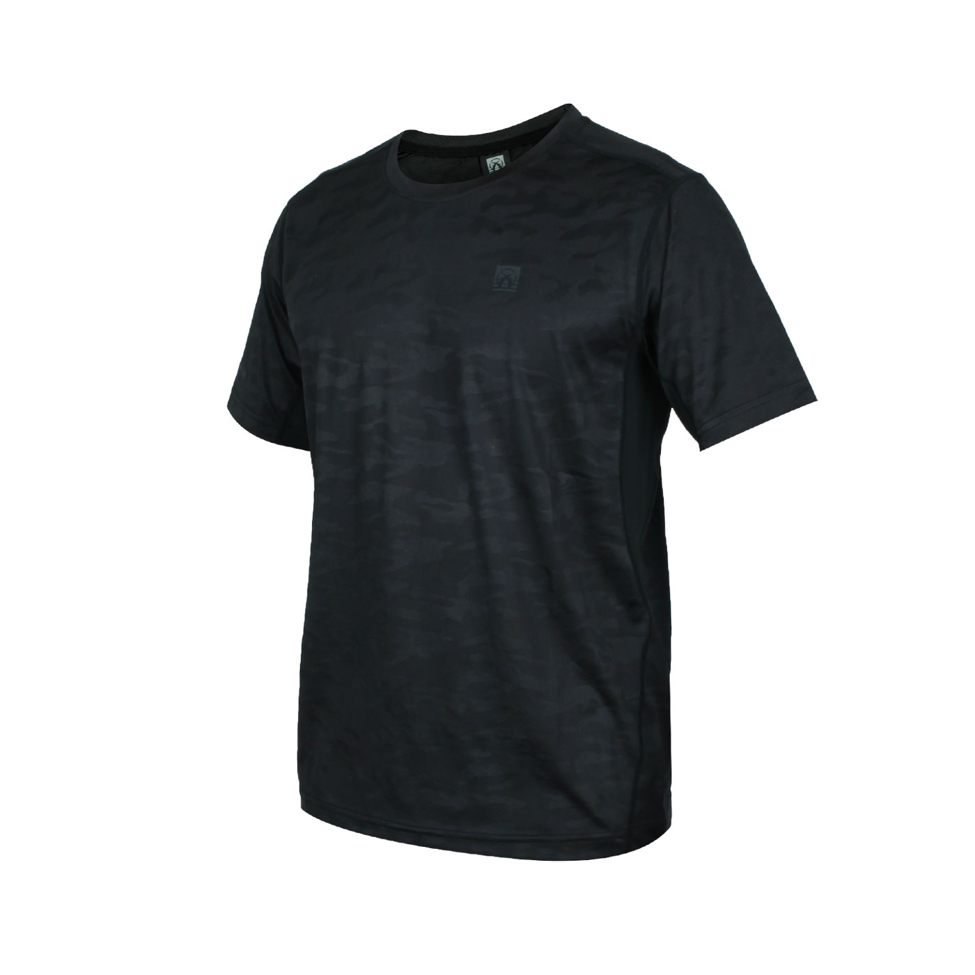 FIRESTAR 男款彈性圓領短袖T恤 D0532-10 - 黑