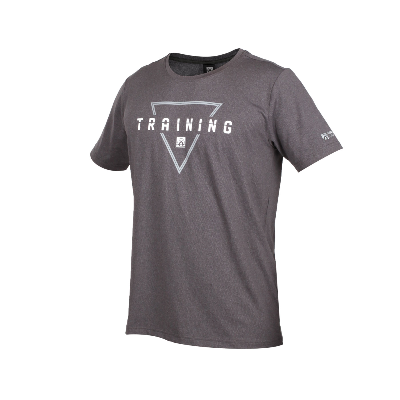 FIRESTAR 男款彈性印花圓領短袖T恤 D0537-18 - 麻花灰白