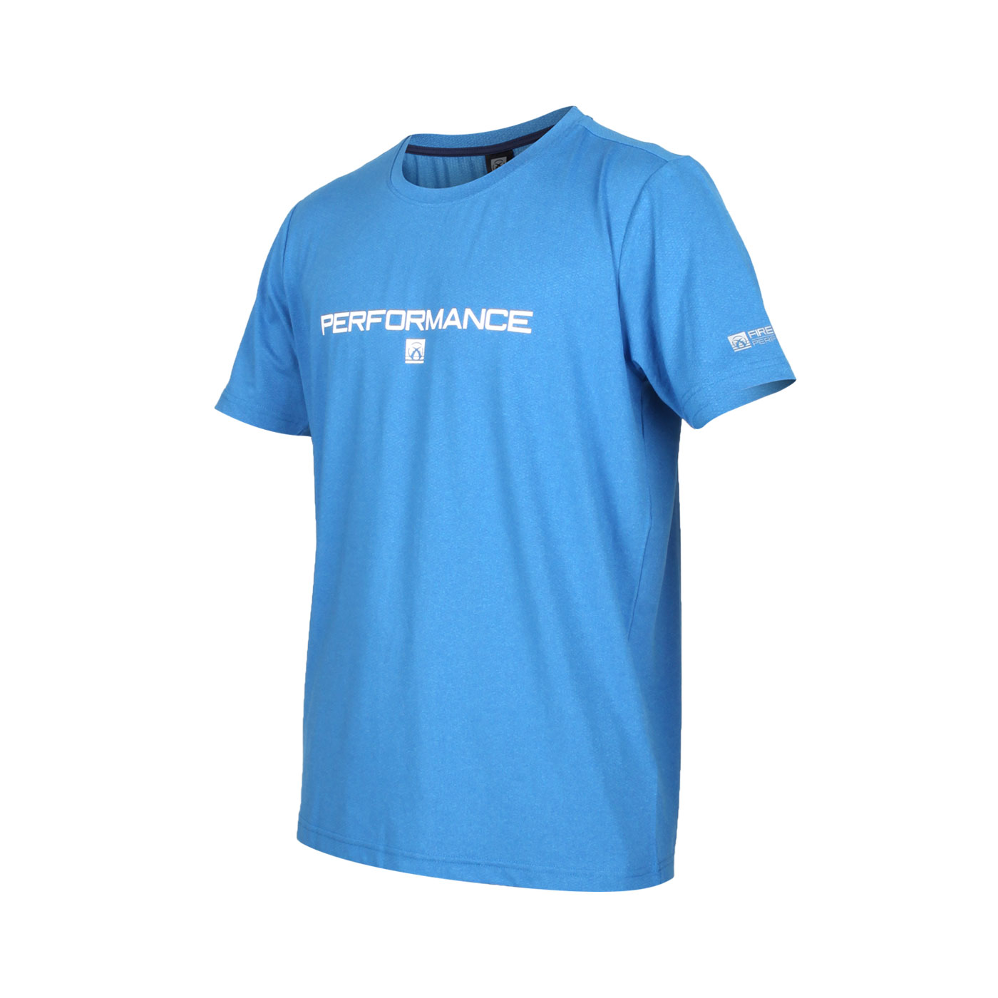 FIRESTAR 男款彈性印花圓領短袖T恤 D0538-18 - 寶藍白