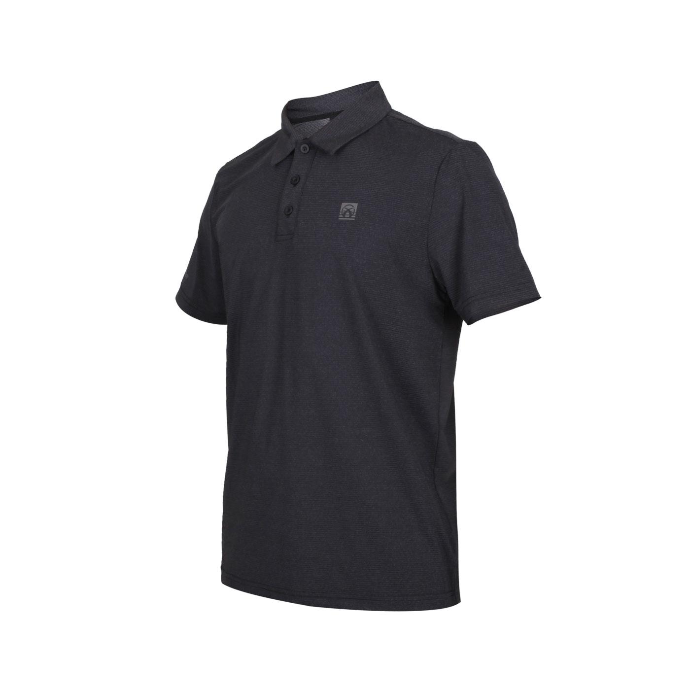 FIRESTAR 男款彈性短袖POLO衫 D0551-18 - 深麻灰