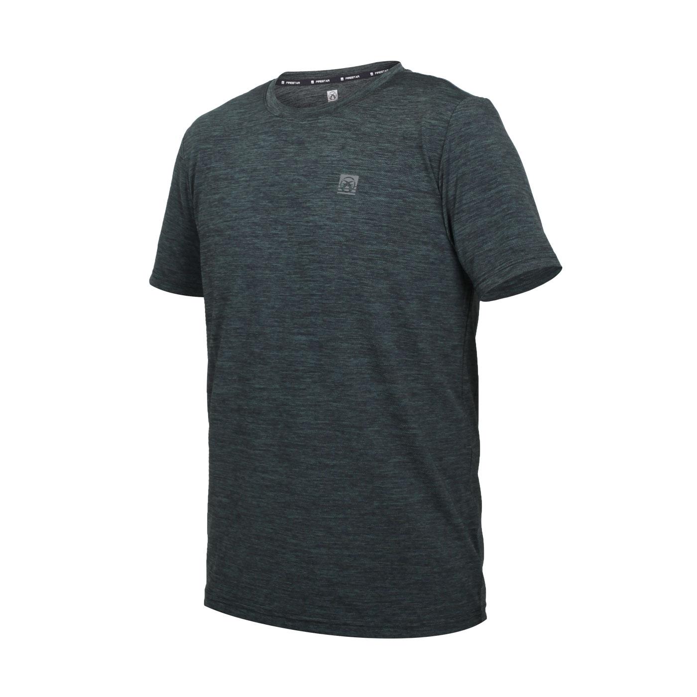 FIRESTAR 男款彈性機能圓領T恤 D1731-18 - 麻花灰