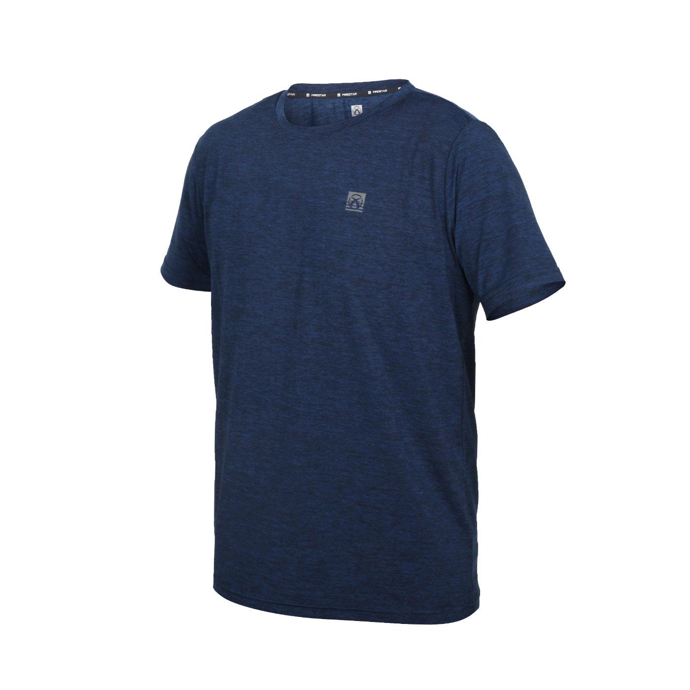 FIRESTAR 男款彈性機能圓領T恤 D1731-93 - 丈青銀
