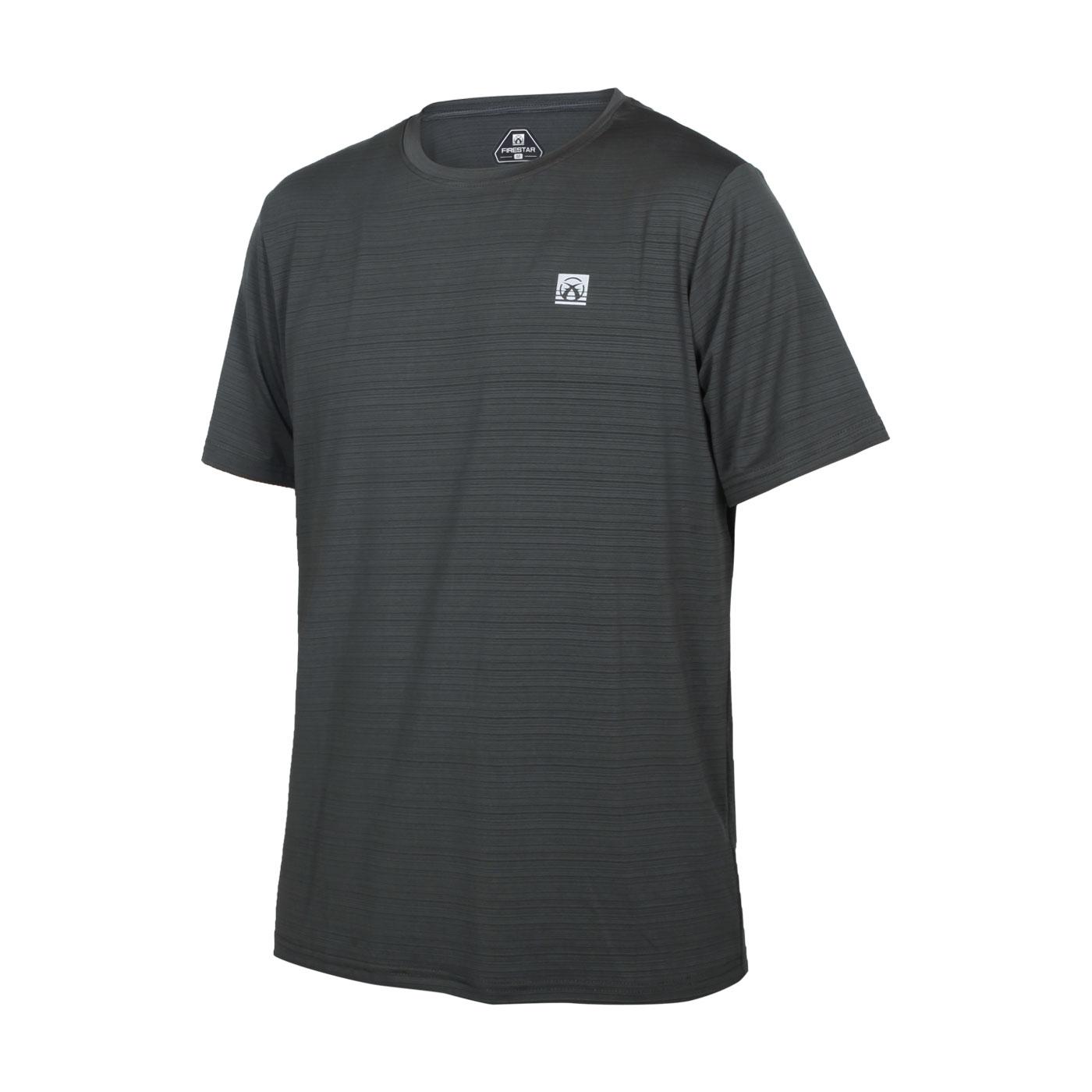FIRESTAR 男彈性機能短袖圓領T恤 D1733-16 - 灰銀