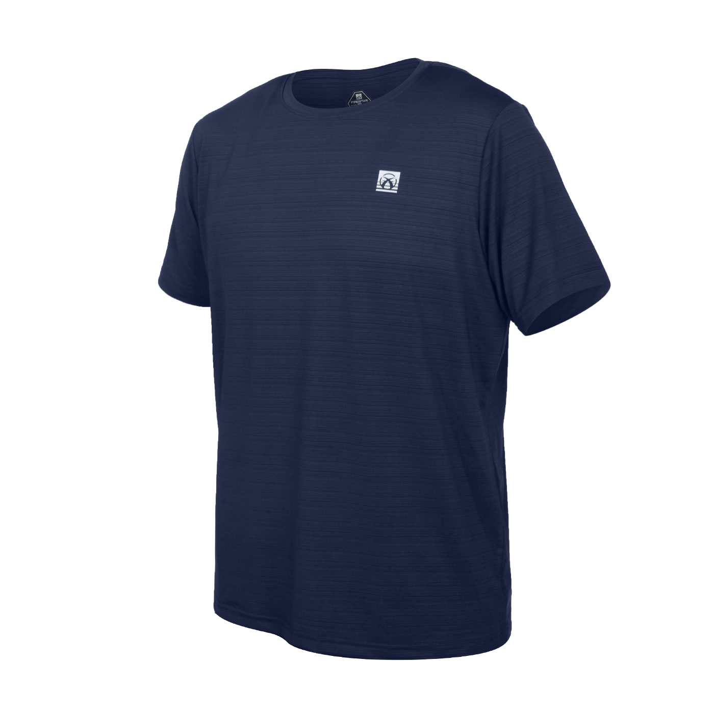 FIRESTAR 男彈性機能短袖圓領T恤 D1733-93 - 丈青銀