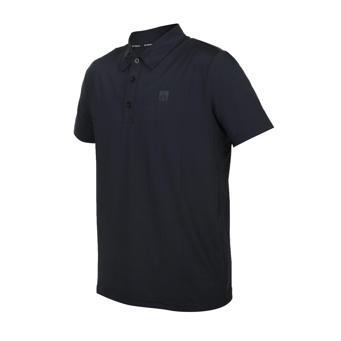 FIRESTAR 男款彈性機能短袖POLO衫 D1751-10 - 黑
