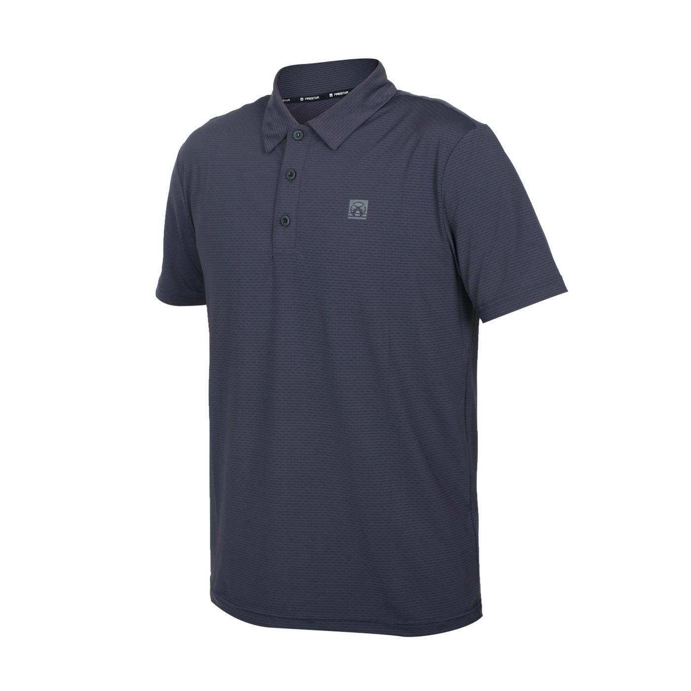 FIRESTAR 男款彈性機能短袖POLO衫 D1751-15 - 深灰