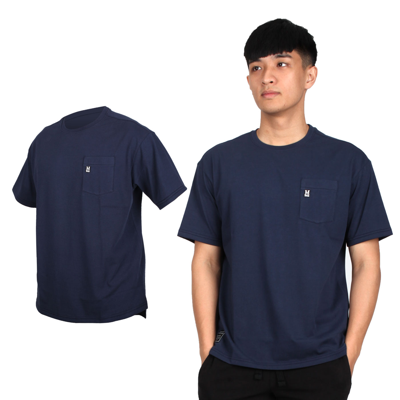 MIZUNO 男款1906系列短袖T恤 D2TA000101 - 丈青黑白
