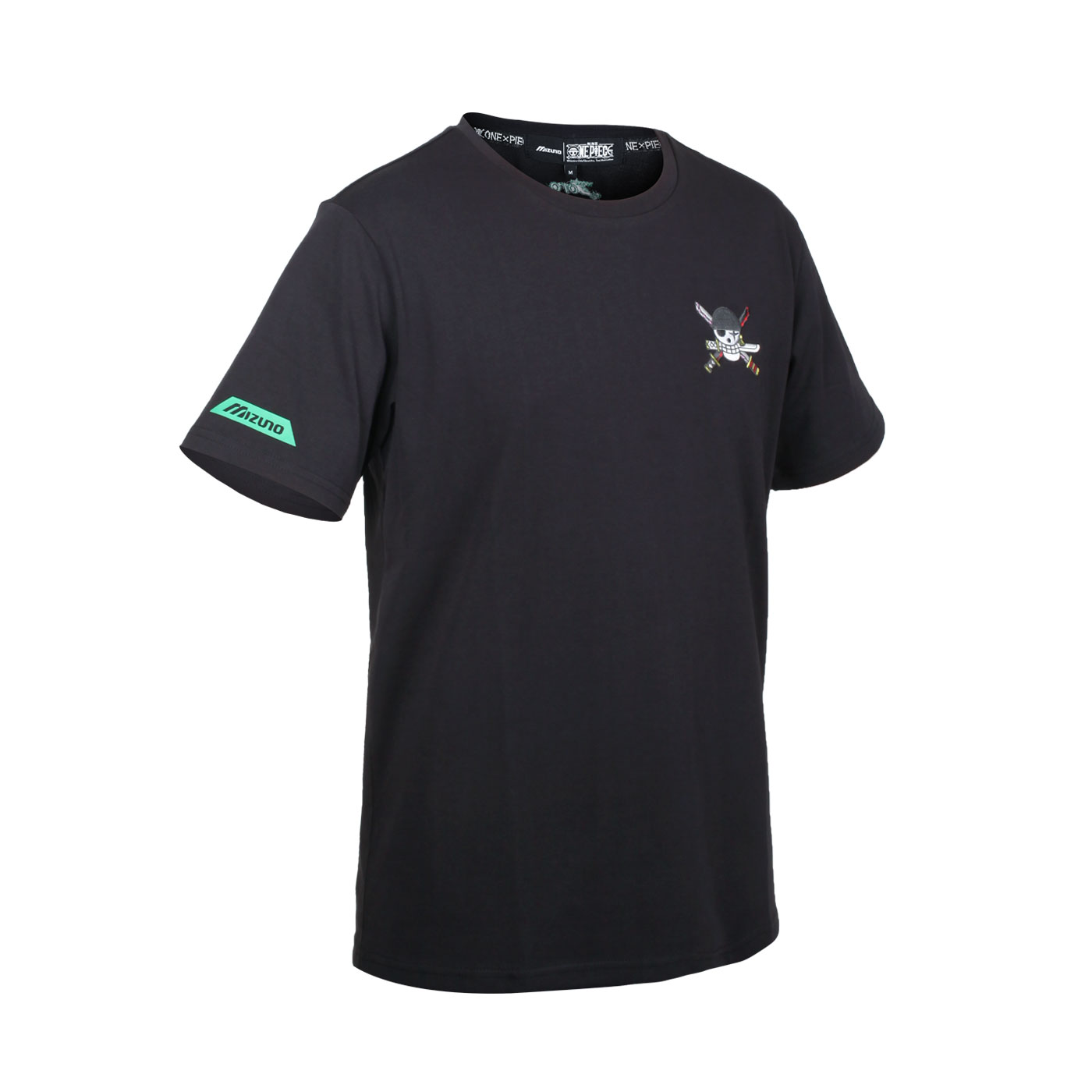 MIZUNO 特定-男款短袖T恤-索隆款(海賊王聯名款) D2TA150909 - 黑白黃紅粉