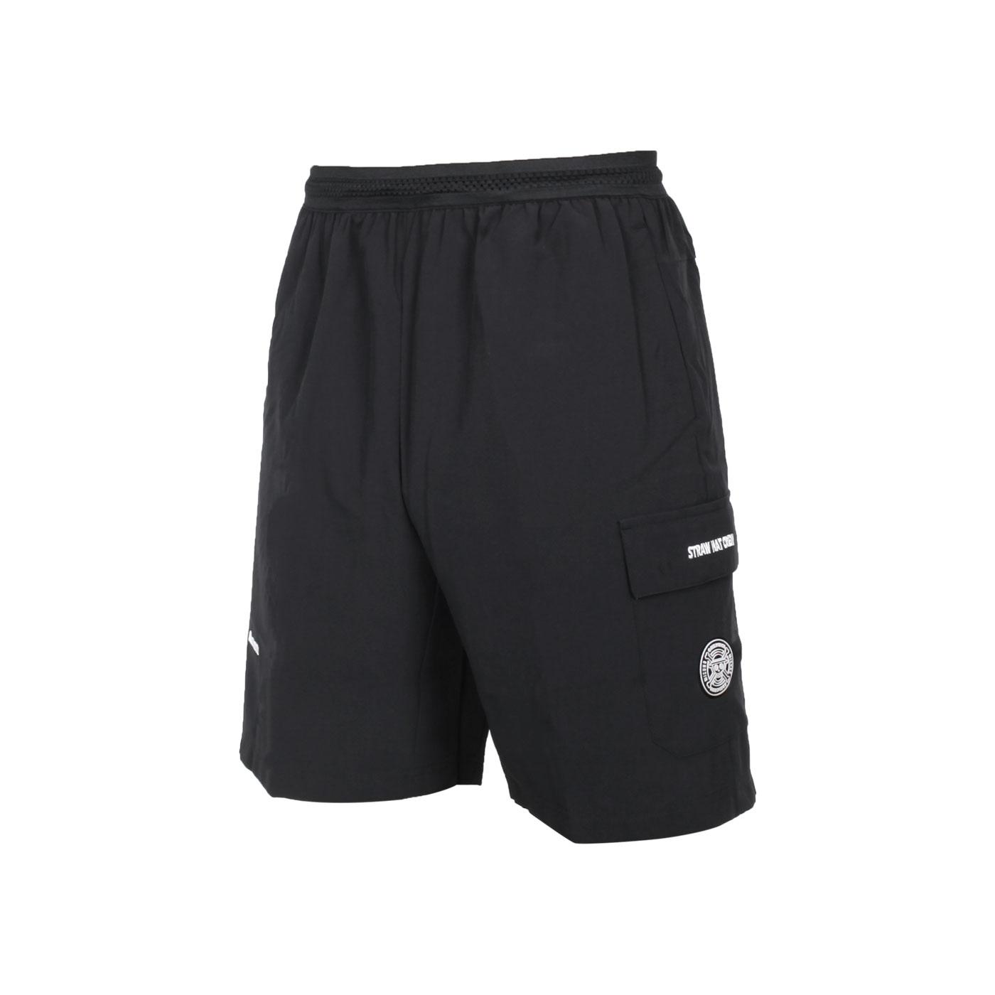 MIZUNO 男平織短褲(海賊王聯名款) D2TB155709 - 黑白