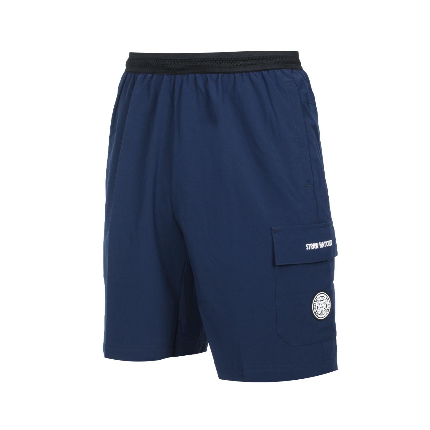 MIZUNO 男平織短褲(海賊王聯名款) D2TB155714 - 丈青白