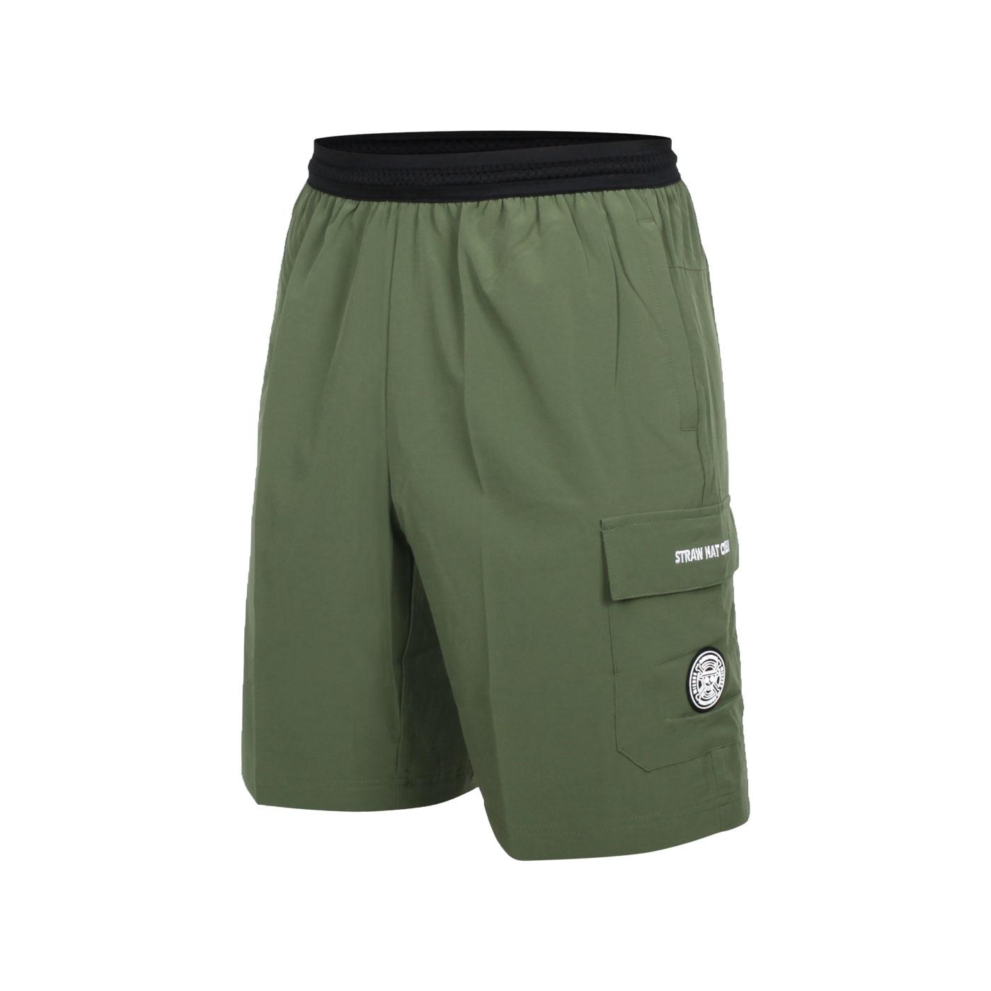 MIZUNO 男平織短褲(海賊王聯名款) D2TB155739 - 軍綠黑