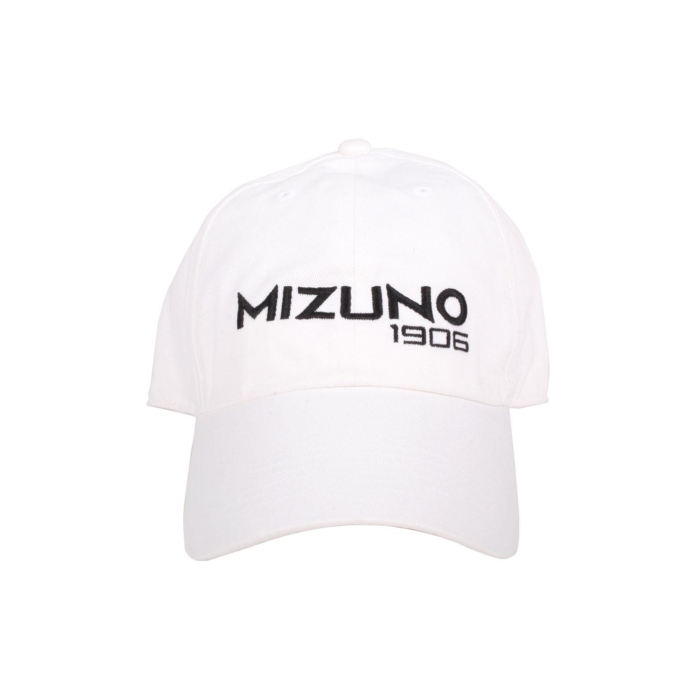 MIZUNO 1906系列運動帽 D2TW000501 - 白黑
