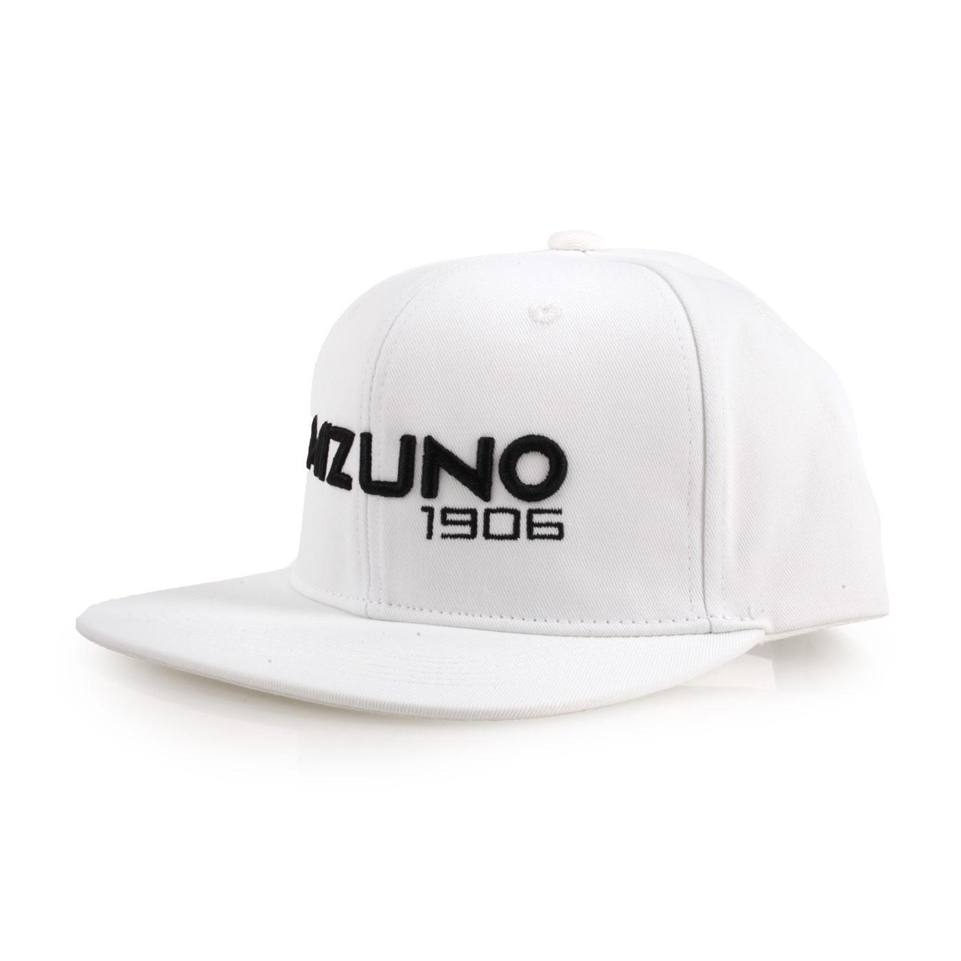MIZUNO 1906系列運動帽 D2TW800001 - 白黑