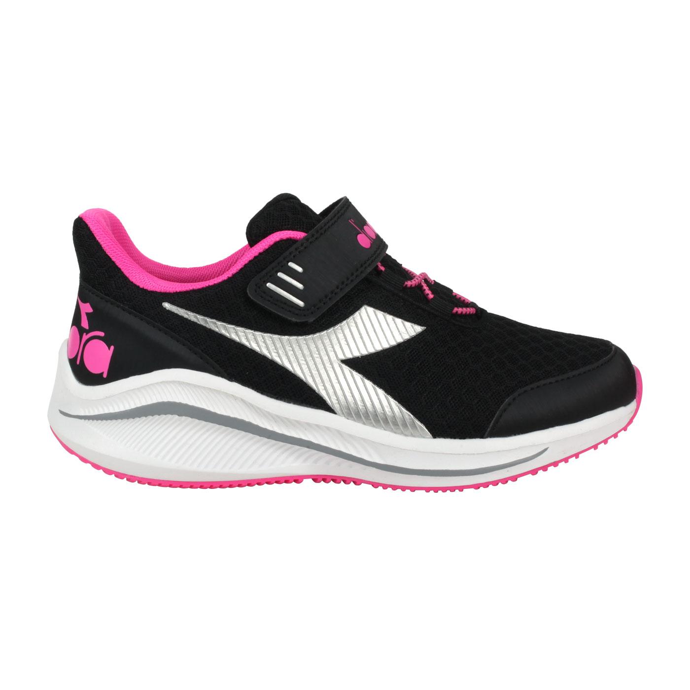 DIADORA 大童專業慢跑鞋-超寬楦 DA11019 - 黑桃紅銀