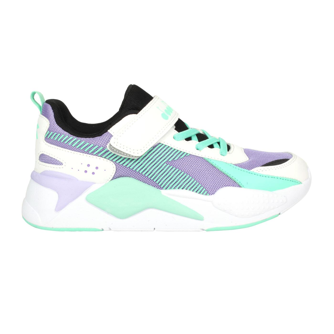DIADORA 大童休閒運動鞋 DA11022 - 白紫綠