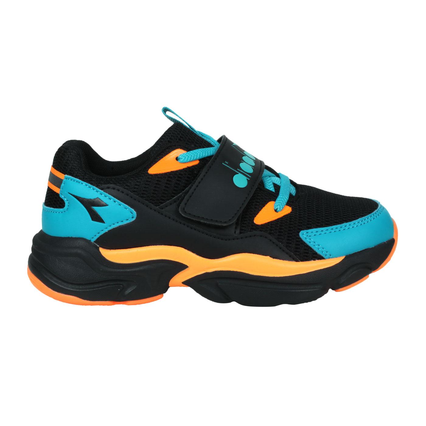 DIADORA 中童運動鞋-超寬楦 DA11023 - 黑橘藍