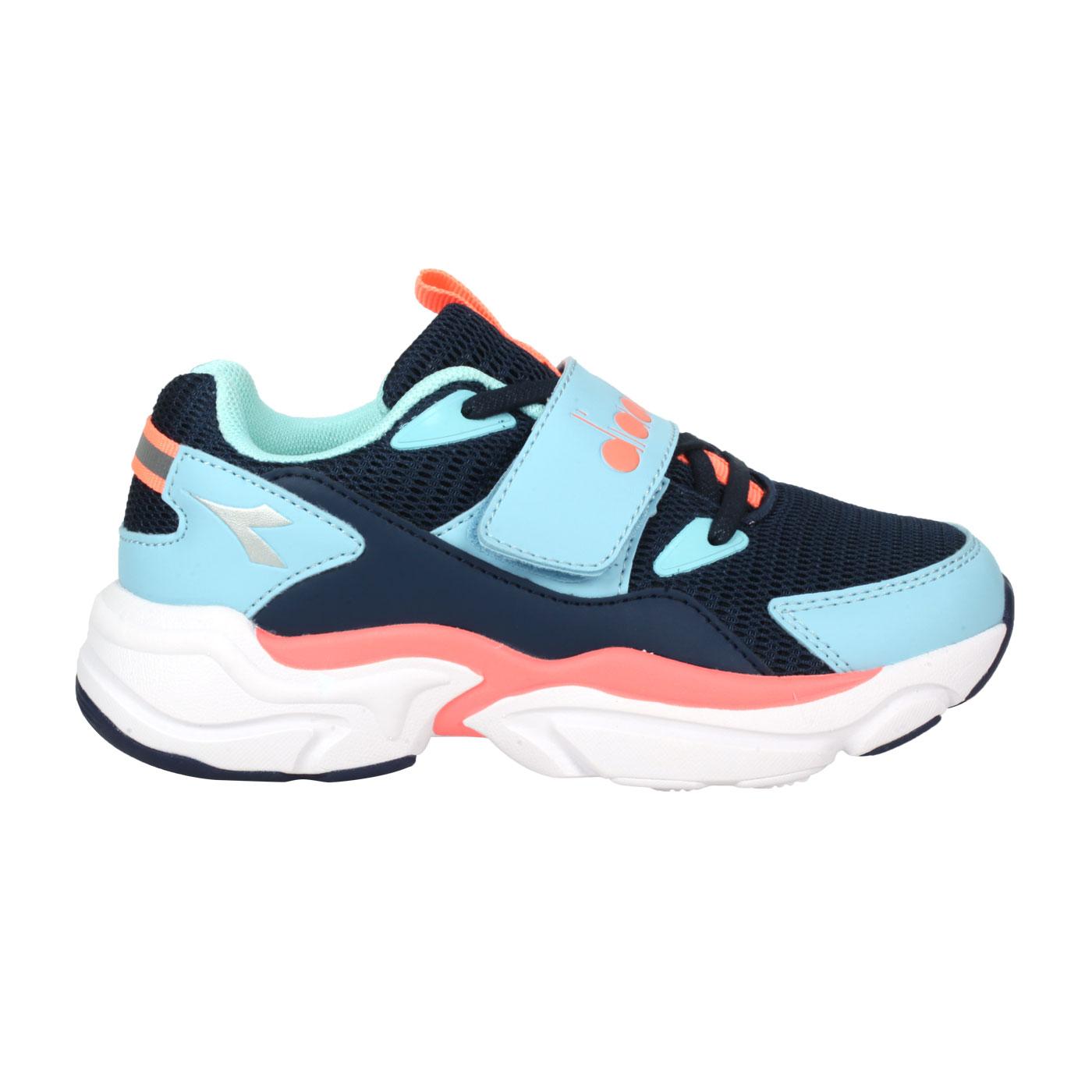 DIADORA 中童運動鞋-超寬楦 DA11025 - 藍水藍粉橘