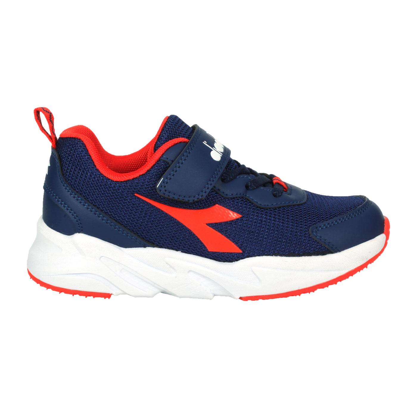 DIADORA 中童專業慢跑輕量鞋-超寬楦 DA11026 - 深藍紅