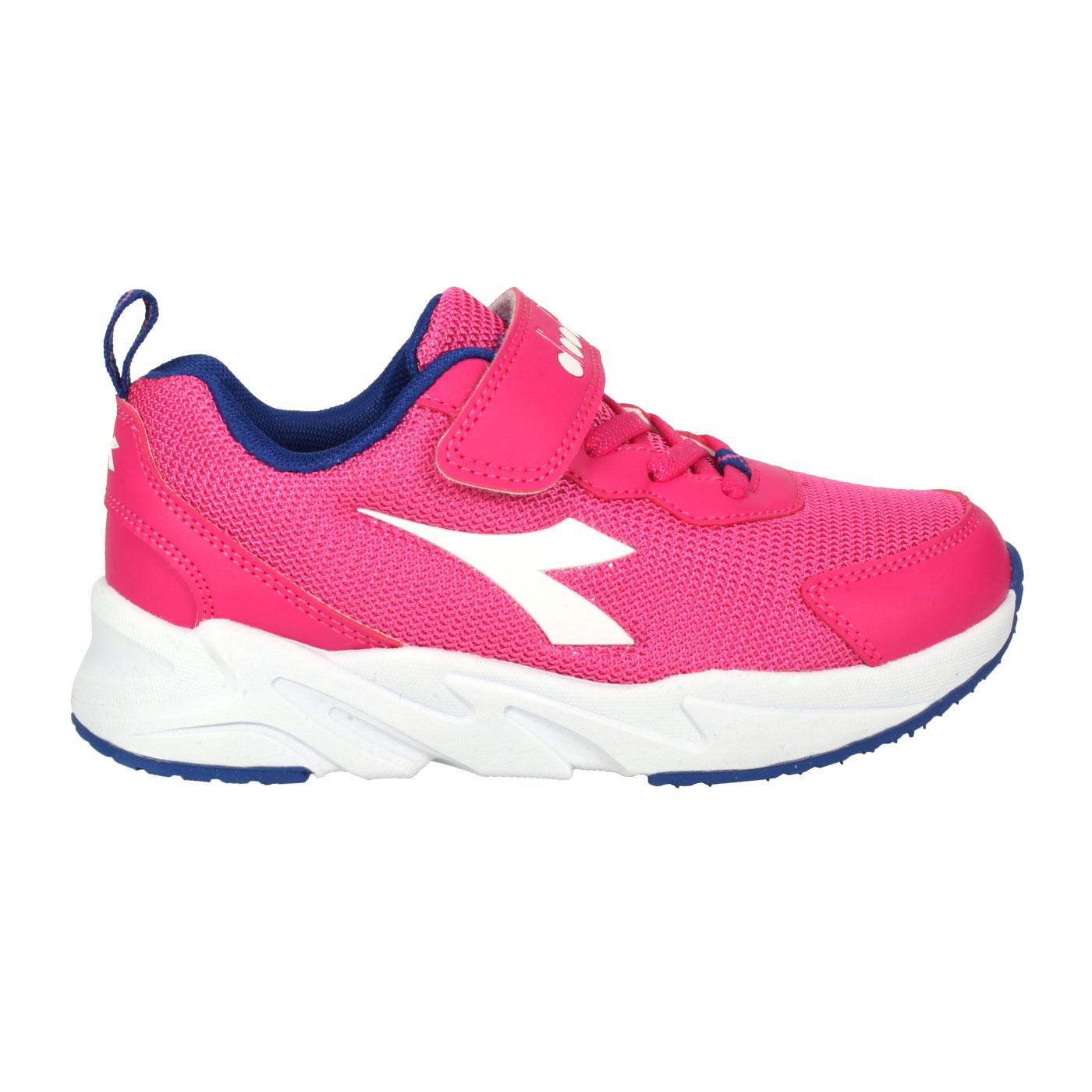 DIADORA 中童專業慢跑輕量鞋-超寬楦 DA11027 - 桃紅白