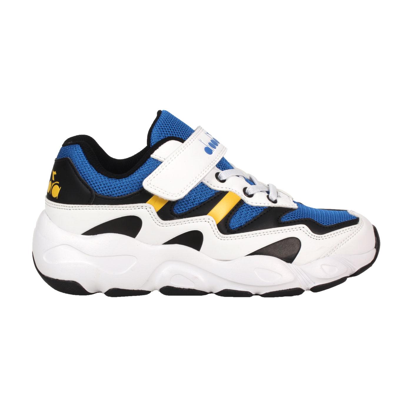 DIADORA 大童運動鞋-超寬楦 DA11029 - 白藍黃