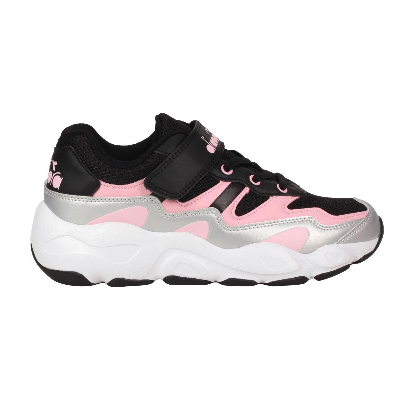 DIADORA 大童運動鞋-超寬楦 DA11030 - 黑粉銀