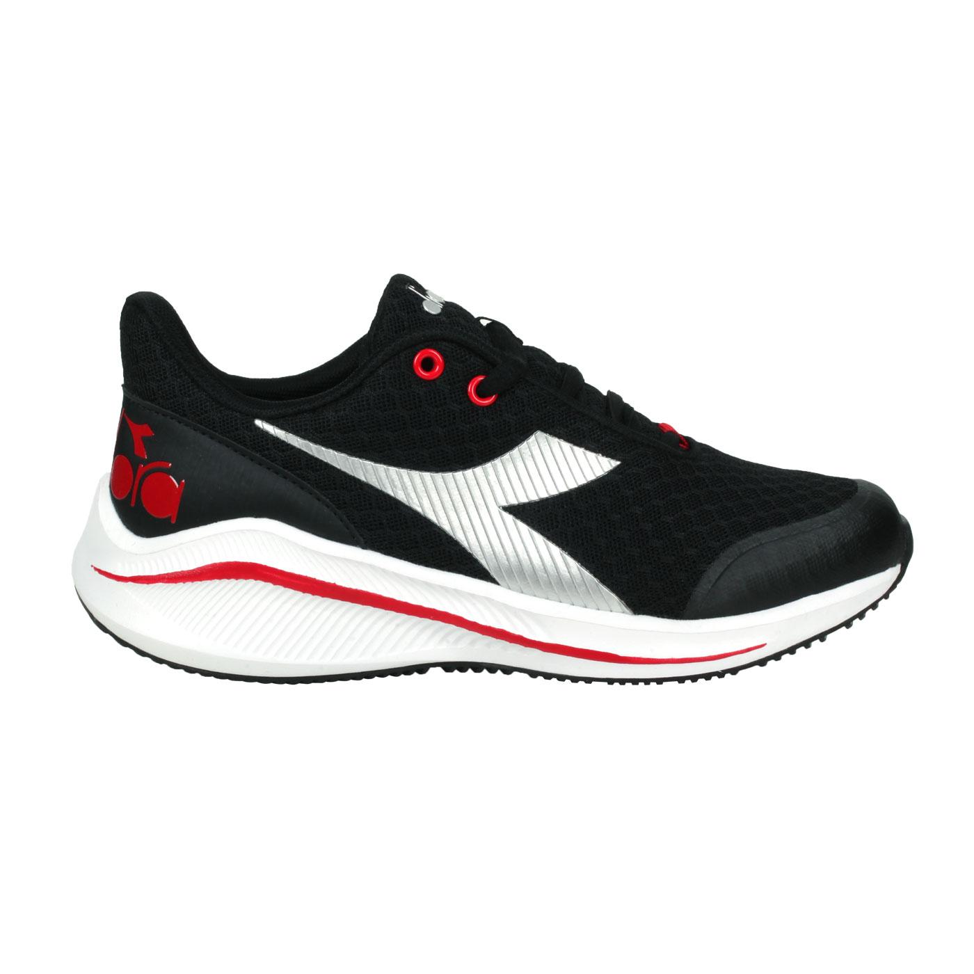 DIADORA 大童專業輕量慢跑鞋-超寬楦 DA11033 - 黑紅銀