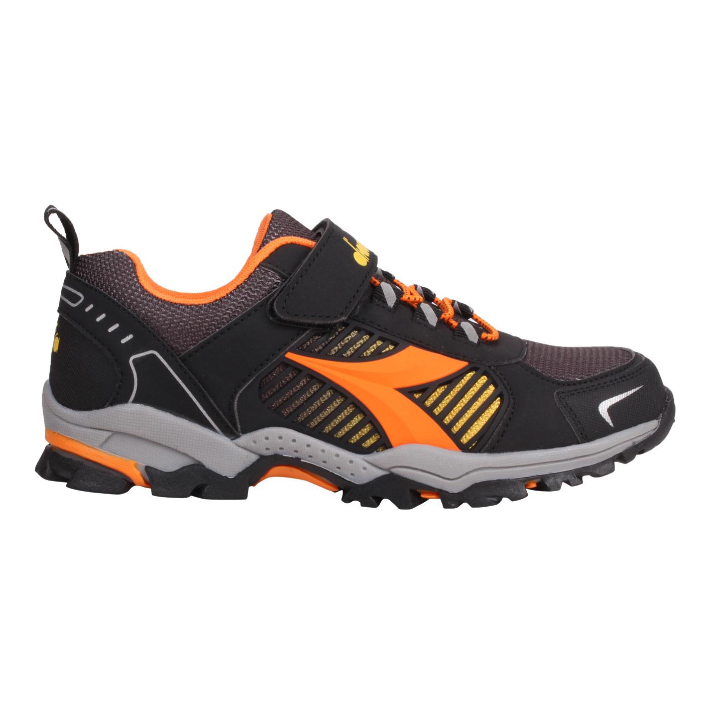 DIADORA 大童戶外越野慢跑鞋-超寬楦 DA13006 - 黑橘黃