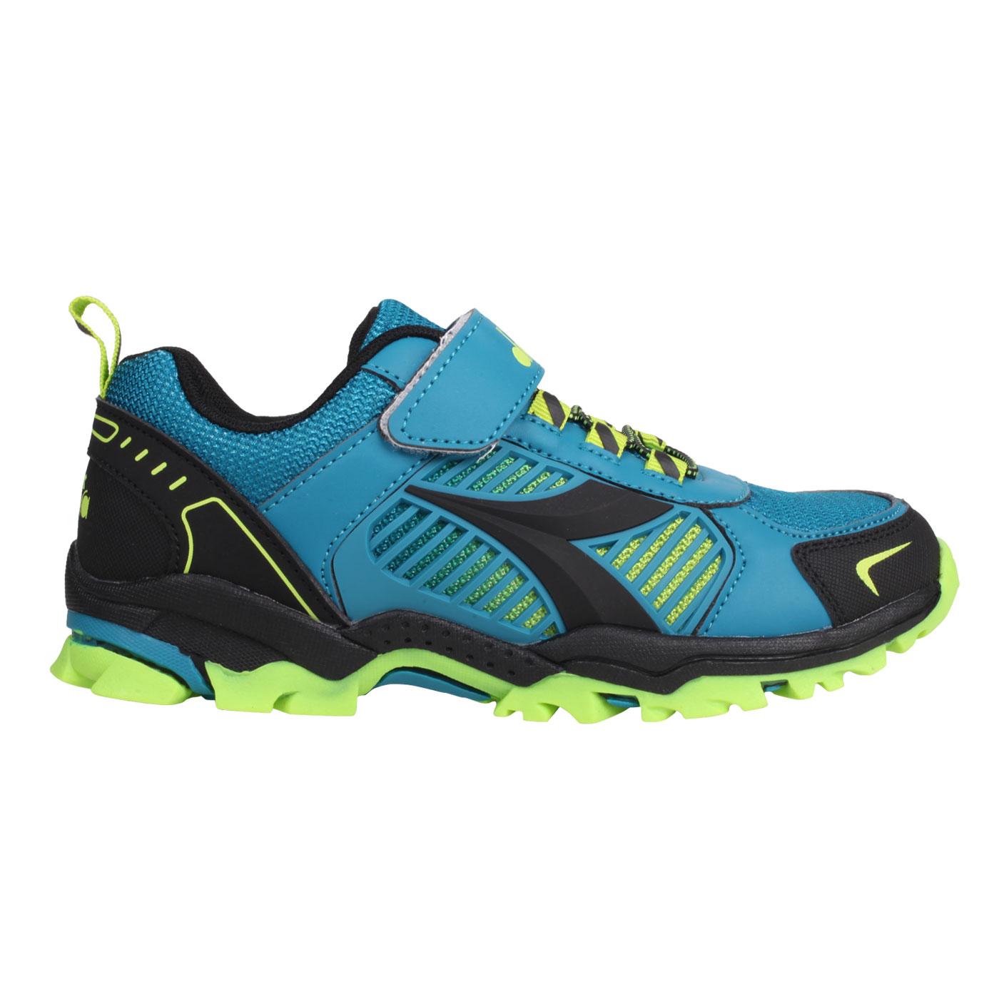 DIADORA 大童戶外越野慢跑鞋-超寬楦 DA13006 - 鴨綠藍粉綠