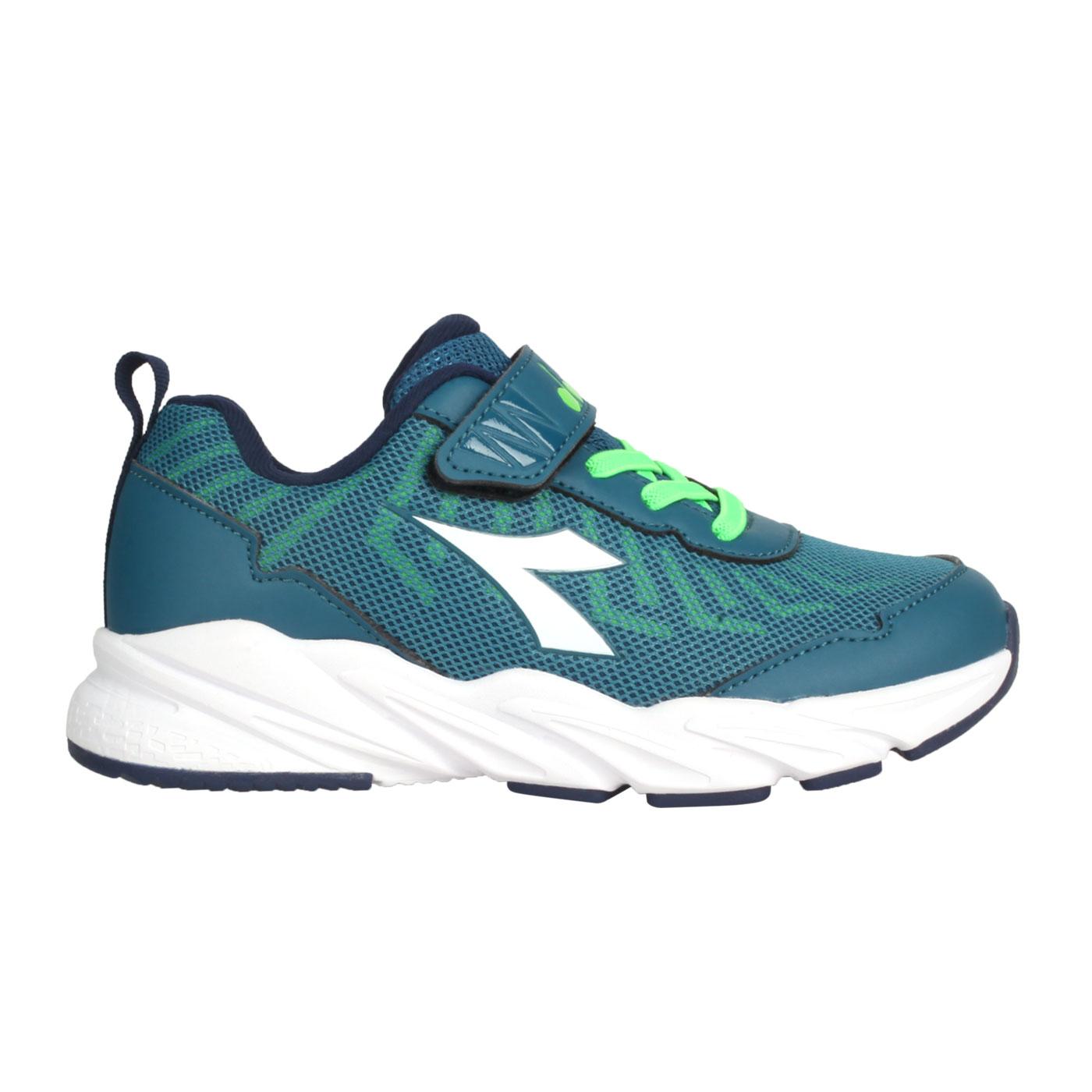 DIADORA 中童輕量慢跑鞋-超寬楦 DA13011 - 墨藍白綠