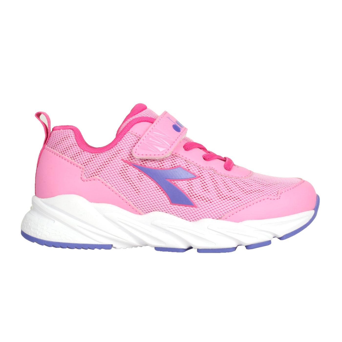 DIADORA 中童輕量慢跑鞋-超寬楦 DA13011 - 粉紅紫