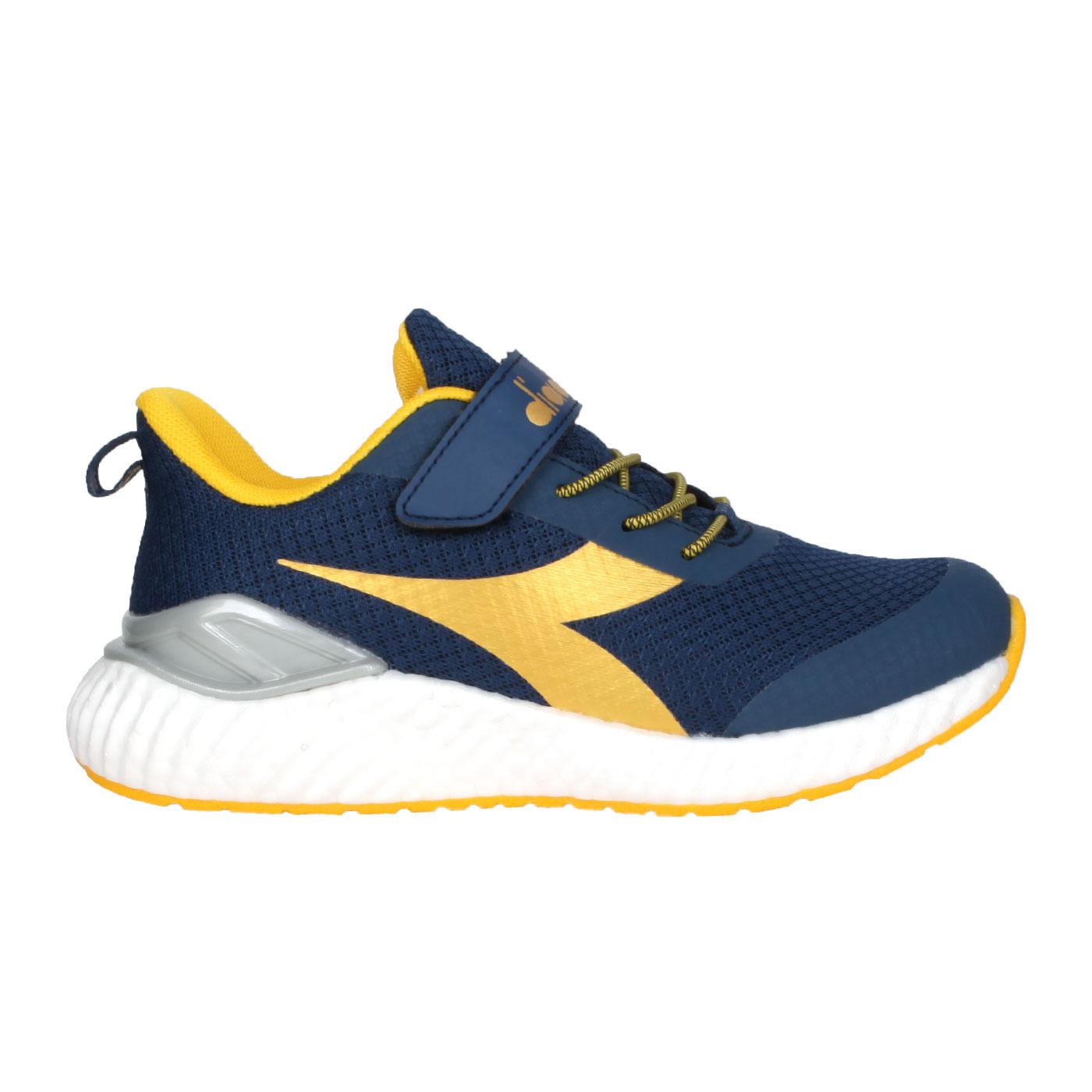 DIADORA 中童慢跑鞋-超寬楦 DA13015 - 丈青金