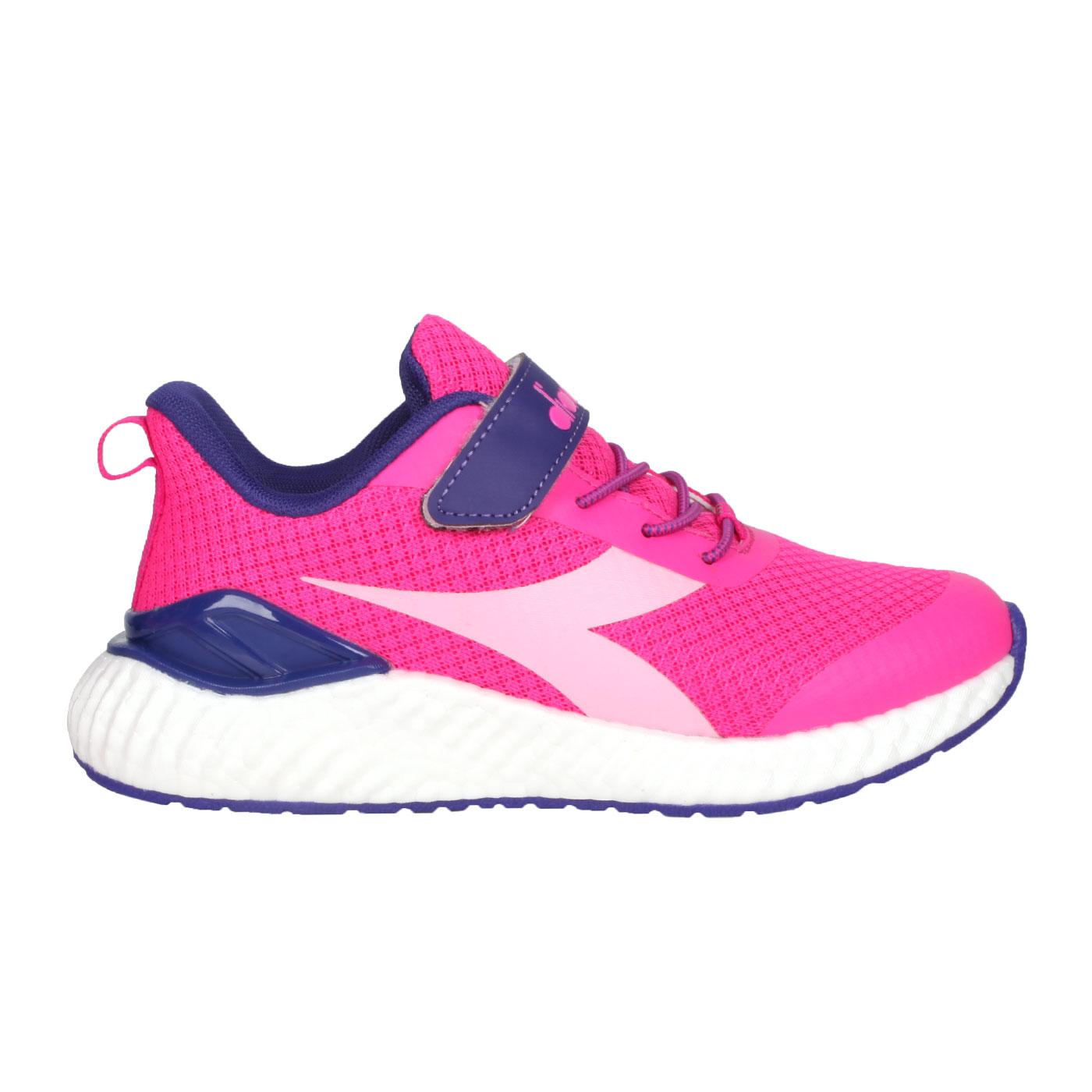 DIADORA 中童慢跑鞋-超寬楦 DA13015 - 桃紅紫
