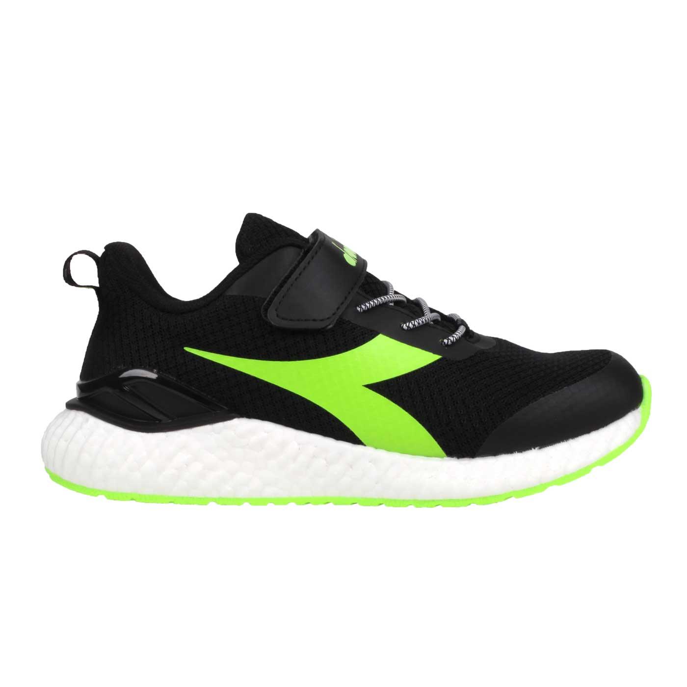 DIADORA 大童運動慢跑鞋 DA13019 - 黑綠