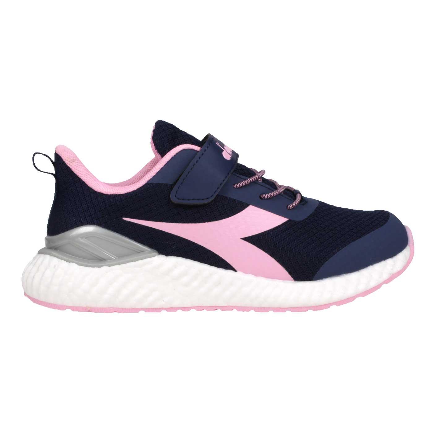 DIADORA 大童運動慢跑鞋 DA13019 - 丈青粉