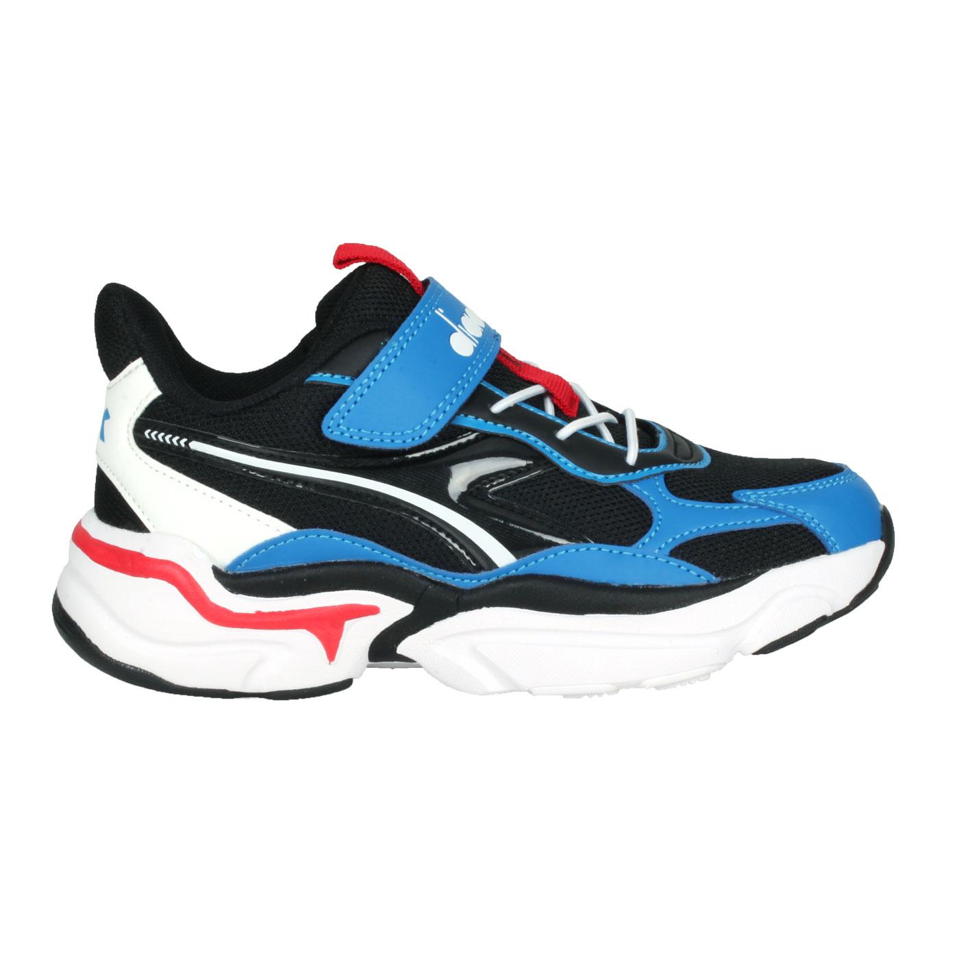 DIADORA 中童運動生活時尚鞋-超寬楦 DA13053 - 黑白紅藍